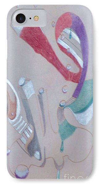 IPhone Case featuring the drawing Abstract 9-12 by Rod Ismay