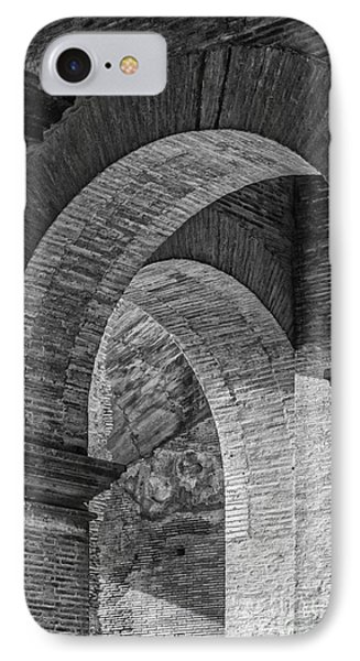 Abstract Arches Colosseum Mono IPhone Case by Antony McAulay