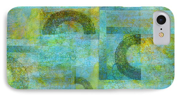 Abstract Art Blue Collage Phone Case by Ann Powell