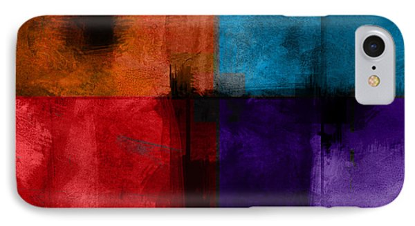 abstract - art- Color Block Square Phone Case by Ann Powell