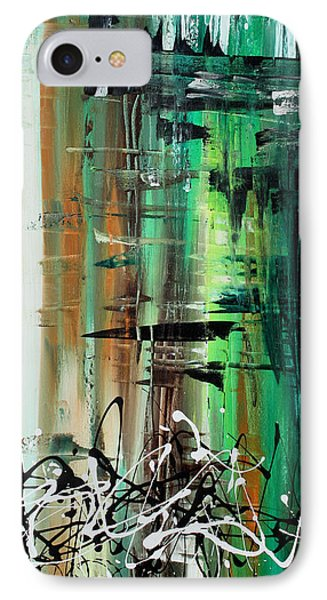Abstract Art Colorful Original Painting Green Valley By Madart Phone Case by Megan Duncanson