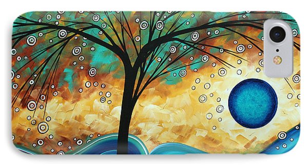 Abstract Art Contemporary Painting Summer Blooms By Madart Phone Case by Megan Duncanson