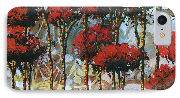 Abstract Art Decorative Landscape Original Painting Whispering Trees II By Madart Studios Phone Case by Megan Duncanson
