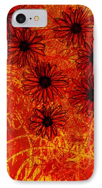 abstract - art- flowers - Daisies  Phone Case by Ann Powell