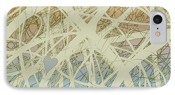 abstract-art-Follow Your Heart Phone Case by Ann Powell