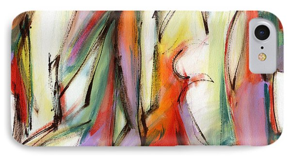 Abstract Art Forty-six IPhone Case by Lynne Taetzsch
