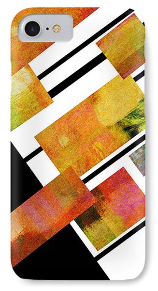 abstract art Homage to Mondrian Square Phone Case by Ann Powell