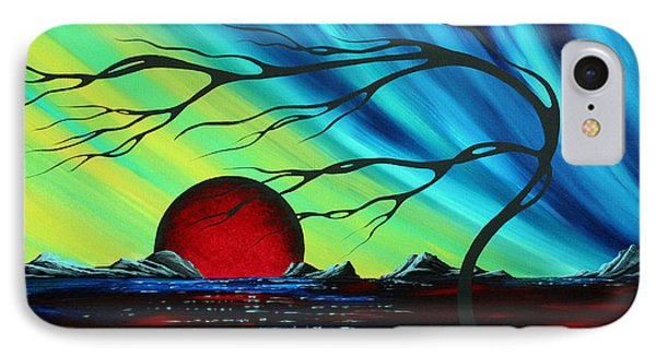 Abstract Art Landscape Seascape Bold Colorful Artwork Serenity By Madart Phone Case by Megan Duncanson