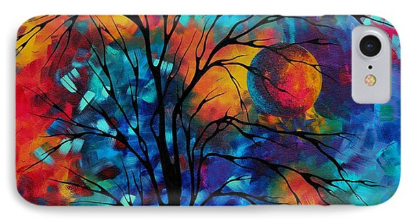 Abstract Art Landscape Tree Bold Colorful Painting A Secret Place By Madart Phone Case by Megan Duncanson