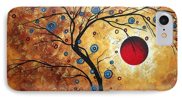 Abstract Art Landscape Tree Metallic Gold Texture Painting Free As The Wind By Madart Phone Case by Megan Duncanson