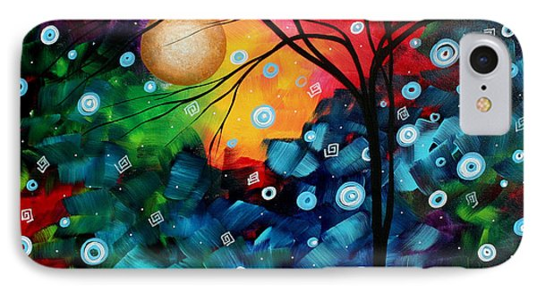 Abstract Art Landscape Tree Painting Brilliance In The Sky Madart Phone Case by Megan Duncanson