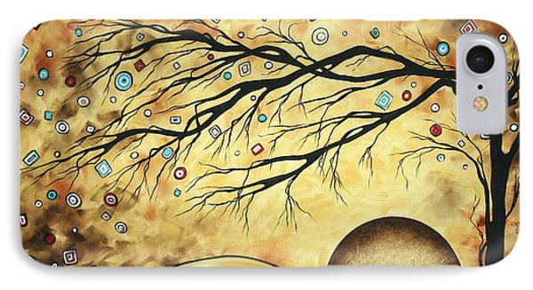 Abstract Art Metallic Gold Original Landscape Painting Colorful Diamond Jubilee By Madart Phone Case by Megan Duncanson