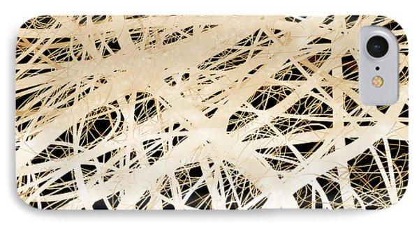 abstract- art- Neurons Phone Case by Ann Powell