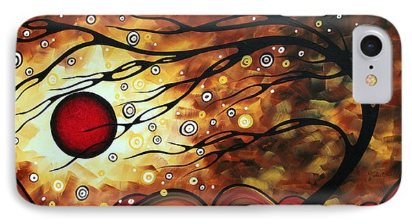 Abstract Art Original Circle Painting Flaming Desire By Madart Phone Case by Megan Duncanson