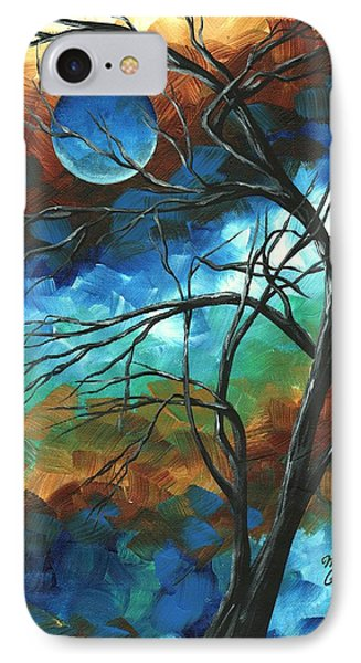 Abstract Art Original Colorful Painting Mystery Of The Moon By Madart Phone Case by Megan Duncanson