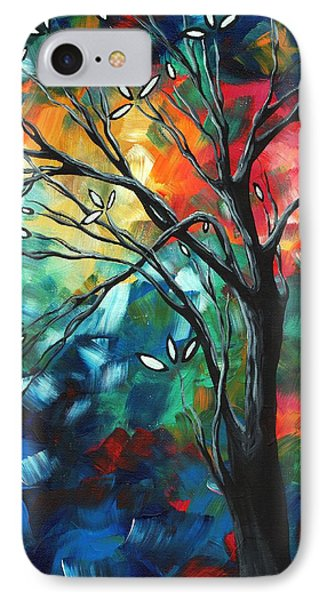 Abstract Art Original Colorful Painting Spring Blossoms By Madart Phone Case by Megan Duncanson