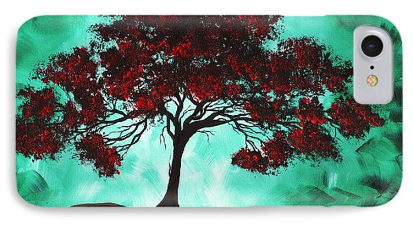 Abstract Art Original Colorful Tree Painting Passion Fire By Madart Phone Case by Megan Duncanson