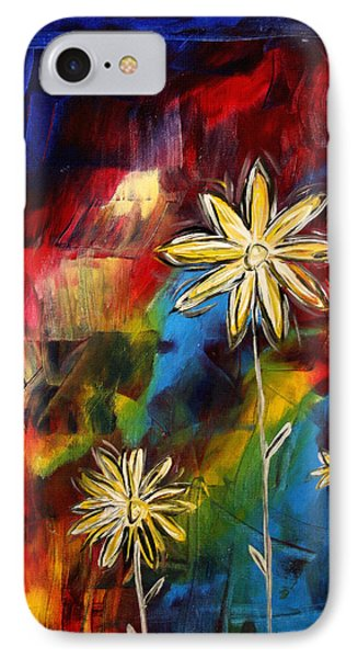 Abstract Art Original Daisy Flower Painting Visual Feast By Madart Phone Case by Megan Duncanson