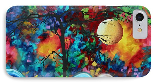 Abstract Art Original Enormous Bold Painting Essence Of The Earth I By Madart Phone Case by Megan Duncanson