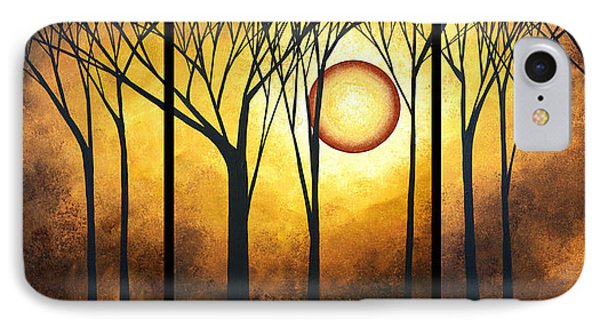 Abstract Art Original Landscape Golden Halo By Madart Phone Case by Megan Duncanson