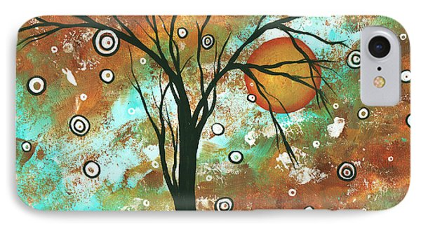 Abstract Art Original Landscape Painting Bold Circle Of Life Design Autumns Eve By Madart Phone Case by Megan Duncanson