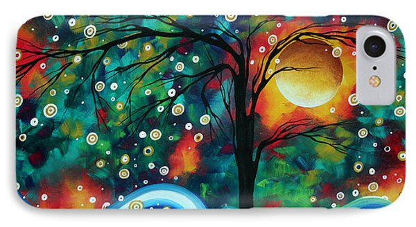 Abstract Art Original Landscape Painting Bold Circle Of Life Design Dance The Night Away By Madart Phone Case by Megan Duncanson