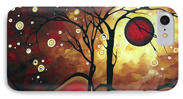Abstract Art Original Landscape Painting Catch The Rising Sun By Madart Phone Case by Megan Duncanson