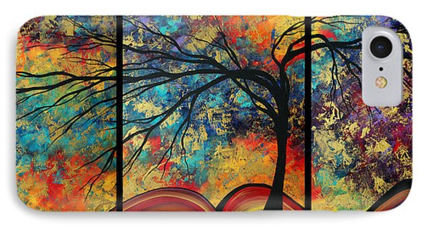 Abstract Art Original Landscape Painting Go Forth By Madart Phone Case by Megan Duncanson