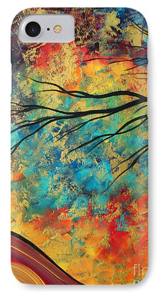 Abstract Art Original Landscape Painting Go Forth I By Madart Studios Phone Case by Megan Duncanson