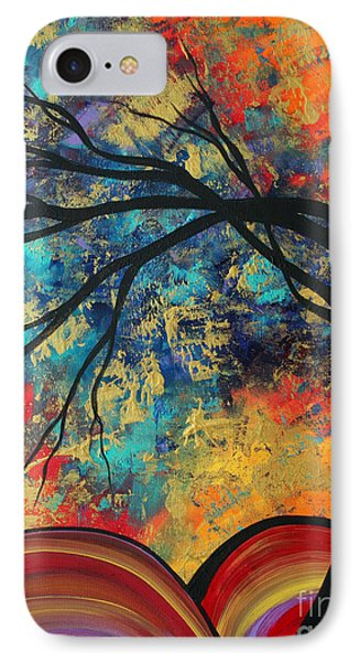 Abstract Art Original Landscape Painting Go Forth II By Madart Studios Phone Case by Megan Duncanson