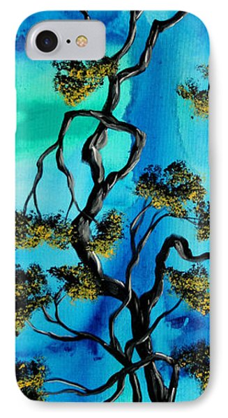 Abstract Art Original Landscape Painting Life Is A Maze By Madart Phone Case by Megan Duncanson