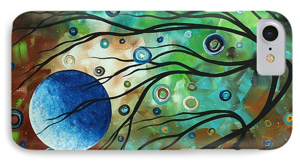 Abstract Art Original Landscape Painting Mint Julep By Madart Phone Case by Megan Duncanson