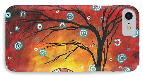Abstract Art Original Landscape Painting Setting Sun By Madart Phone Case by Megan Duncanson