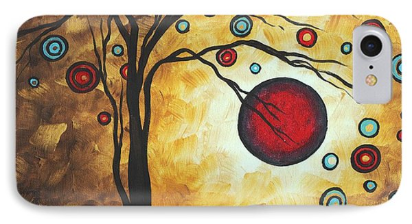 Abstract Art Original Metallic Gold Landscape Painting Freedom Of Joy By Madart Phone Case by Megan Duncanson