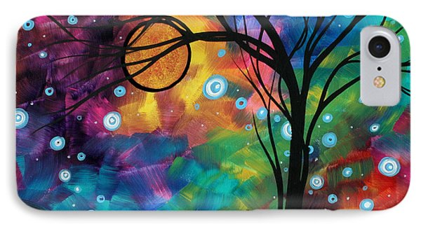 Abstract Art Original Painting Winter Cold By Madart Phone Case by Megan Duncanson