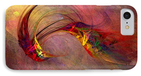 Abstract Art Print Hummingbird IPhone Case by Karin Kuhlmann