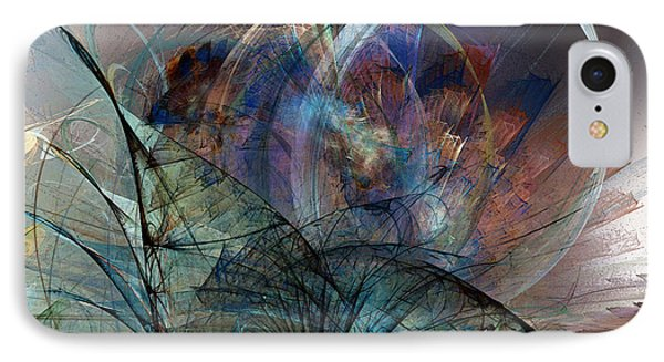 Abstract Art Print In The Mood IPhone Case by Karin Kuhlmann