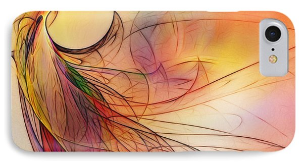 Abstract Art Print Sunday Morning Sidewalk IPhone Case by Karin Kuhlmann