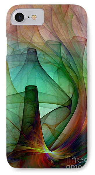 Abstract Art Print Witches Kitchen IPhone Case by Karin Kuhlmann