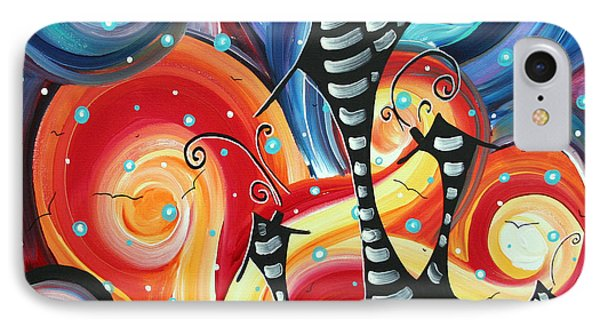 Abstract Art Whimsical Cityscape Funky Houses Homeland By Madart Phone Case by Megan Duncanson