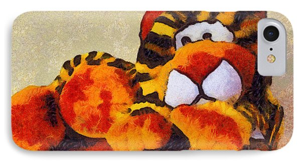 Abstract Bengal Tiger Phone Case by Barbara Snyder