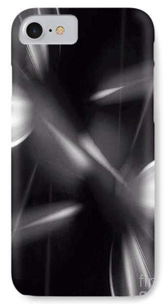 IPhone Case featuring the digital art Abstract Black And White by Gayle Price Thomas