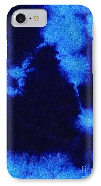 Abstract Blue Batik Pattern Phone Case by Kerstin Ivarsson