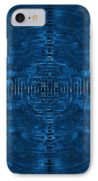 Abstract Blue Electric Circuit Future Technology_oil Painting On Canvas Phone Case by Nenad Cerovic