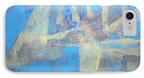 IPhone Case featuring the painting Abstract Blue Landscape by John Fish