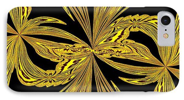 Abstract Botanical Gold IPhone Case