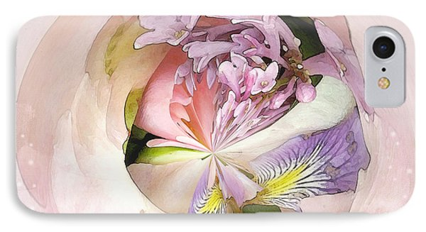 Abstract Bouquet IPhone Case by Karen Lynch