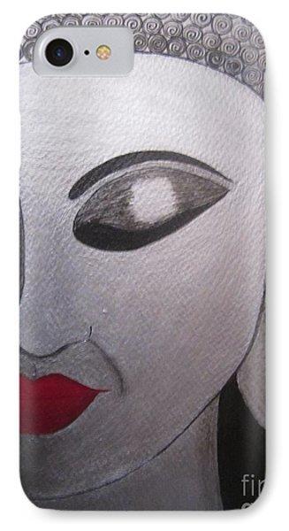 Abstract Buddha Phone Case by Priyanka Rastogi