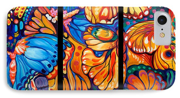 Abstract Butterflies Triptych IPhone Case