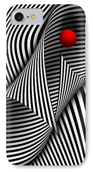 Abstract - Catch The Red Ball Phone Case by Mike Savad